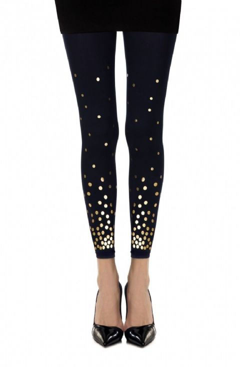 "Zohara - ""You've got a Point"" Navy Print Footless Tights"